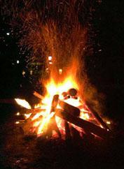 年越しの炎