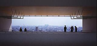 百年記念館から見える神戸の街並み